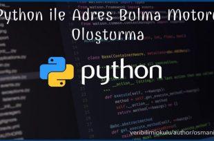Python ile Adres Bulucu